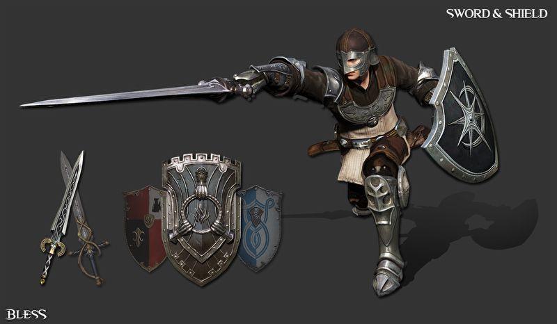 Одноручный меч и щит